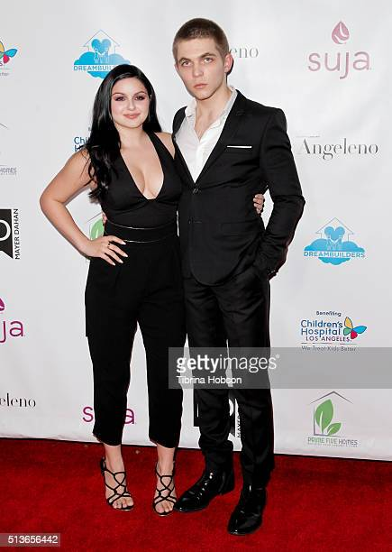 Ariel Winter and Laurent Claude Gaudette attend The Dream Builders Project 3rd Annual 'A Brighter Future For Children' Charity Gala at Taglyan...