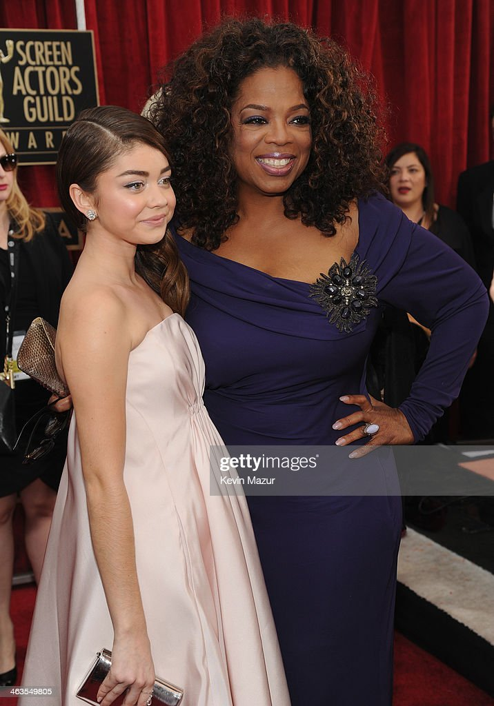 Ariel Winter and Oprah Winfrey attend 20th Annual Screen Actors Guild Awards at The Shrine Auditorium on January 18 2014 in Los Angeles California