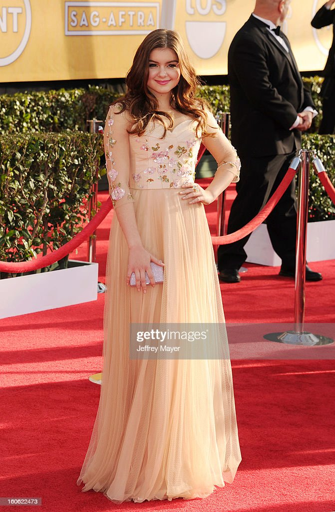 Ariel Winter arrives at the 19th Annual Screen Actors Guild Awards at the Shrine Auditorium on January 27, 2013 in Los Angeles, California.