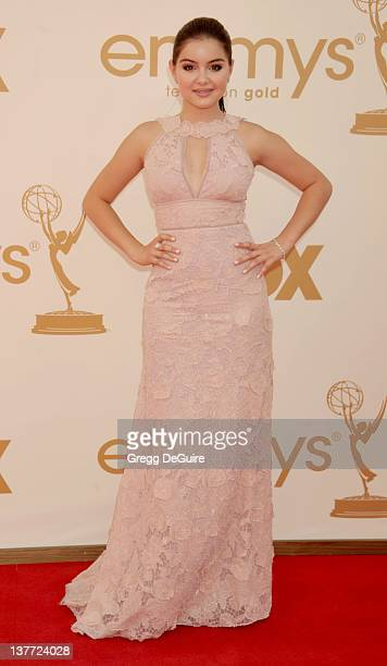 Ariel Winter arrives at the Academy of Television Arts Sciences 63rd Primetime Emmy Awards at Nokia Theatre LA Live on September 18 2011 in Los...