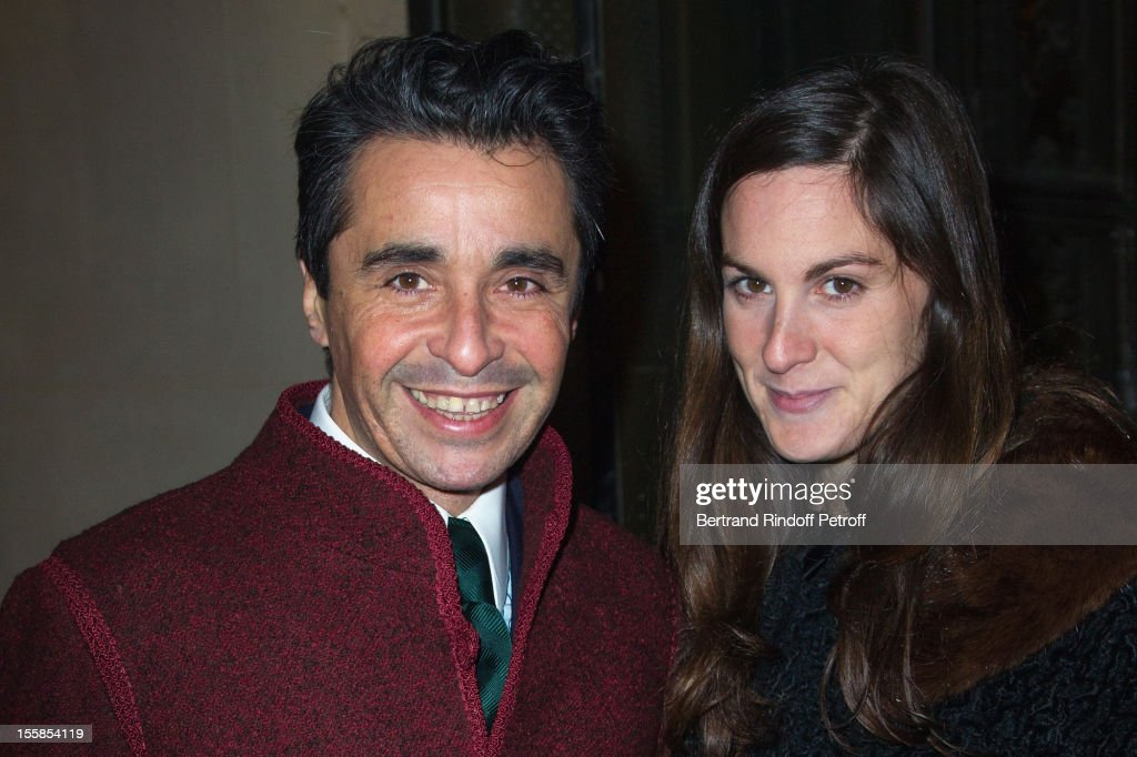 Ariel Wizman and companion Osnath attend 'La Petite Veste Noire' Book Launch Hosted By Karl Lagerfeld & Carine Roitfeld at Grand Palais on November 8, 2012 in Paris, France.