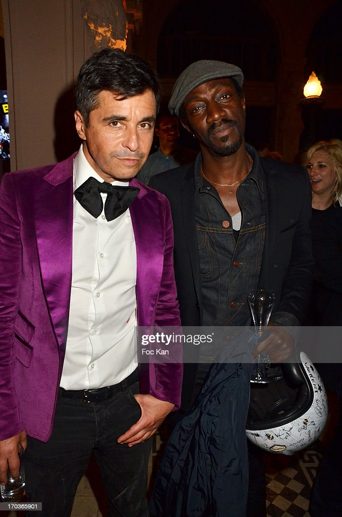 Ariel Wizman and Marco Prince attend the 'Battle Rock' Party At The Trianon Theatre on June 11, 2013 in Paris, France.