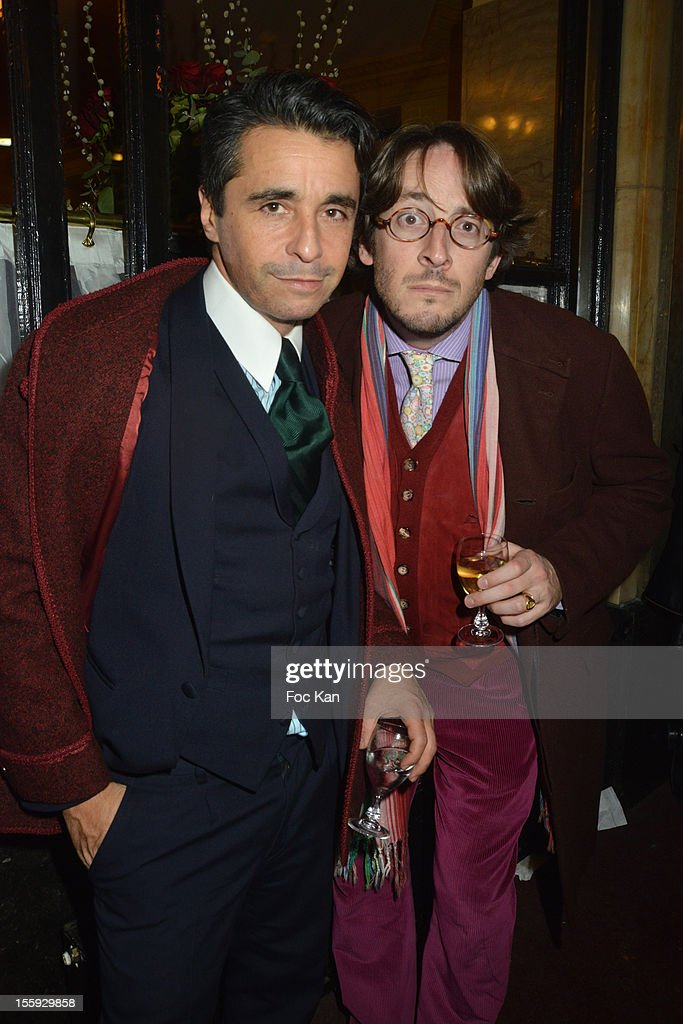 Ariel Wizman and Nicolas dÕEstienne dÕOrves attend the 'Prix De Flore 2012' - Literary Award Ceremony Party at the Cafe de Flore on November 8, 2012 in Paris, France.