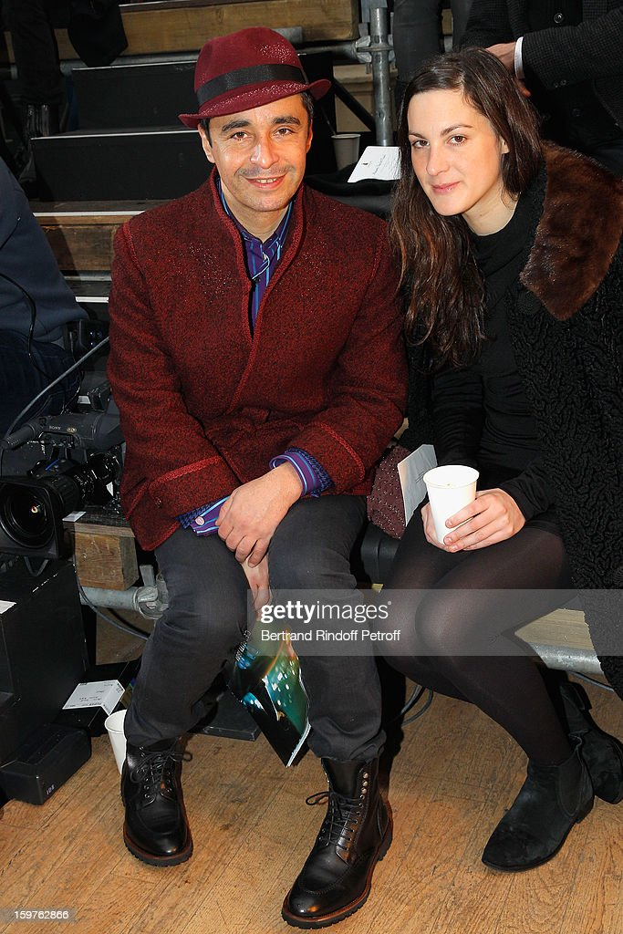 Ariel Wizman (L) and Osnath Assayag attend the Lanvin Men Autumn / Winter 2013 show at Ecole Nationale Superieure Des Beaux-Arts as part of Paris Fashion Week on January 20, 2013 in Paris, France.
