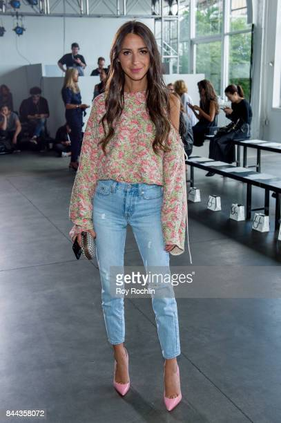 Arielle Charnas attends the Hellessy fashion show during New York Fashion Week at Pier 59 on September 8 2017 in New York City