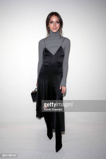 Arielle Charnas attends the Jonathan Simkhai collection during New York Fashion Week The Shows at Gallery 1 Skylight Clarkson Sq on February 11 2017...