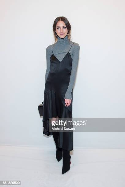 Arielle Charnas attends the Jonathan Simkhai fashion show during February 2017 New York Fashion Week The Shows at Gallery 1 Skylight Clarkson Sq on...