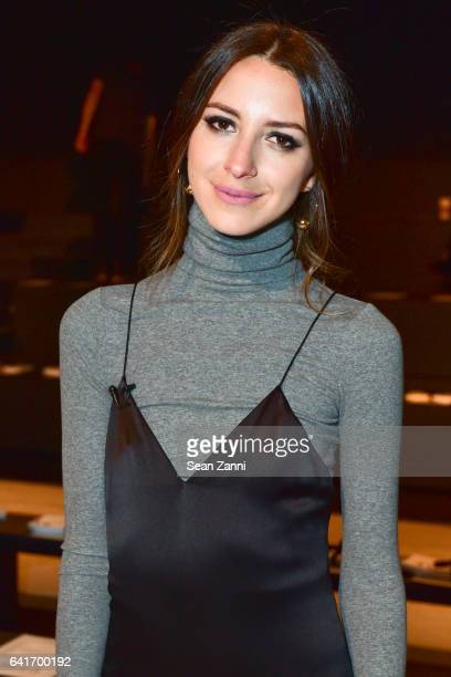 Arielle Charnas attends the Jonathan Simkhai show during New York Fashion Week at Skylight Clarkson Sq on February 11 2017 in New York City