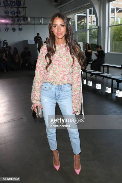 Arielle Charnas poses at the Hellessy show during New York Fashion Weekon September 8 2017 in New York City