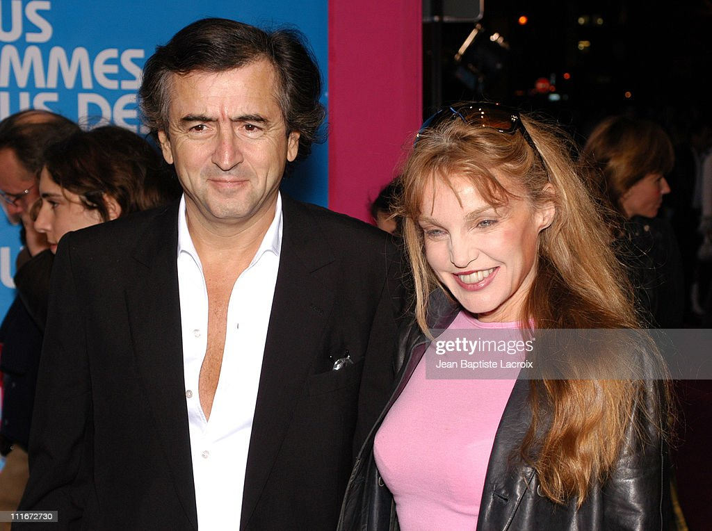 Arielle Dombasle and Bernard Henri Levy during 'Podium' Paris Premiere at Paramount Opera in Paris France