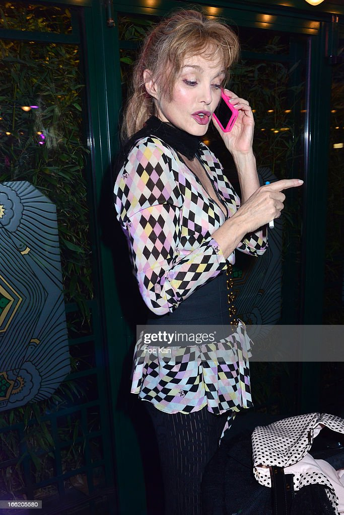 Arielle Dombasle attends La Closerie Ses Lilas Litterary Awards 2013 - 6th Edition At La Closerie Des Lilas on April 9, 2013 in Paris, France.
