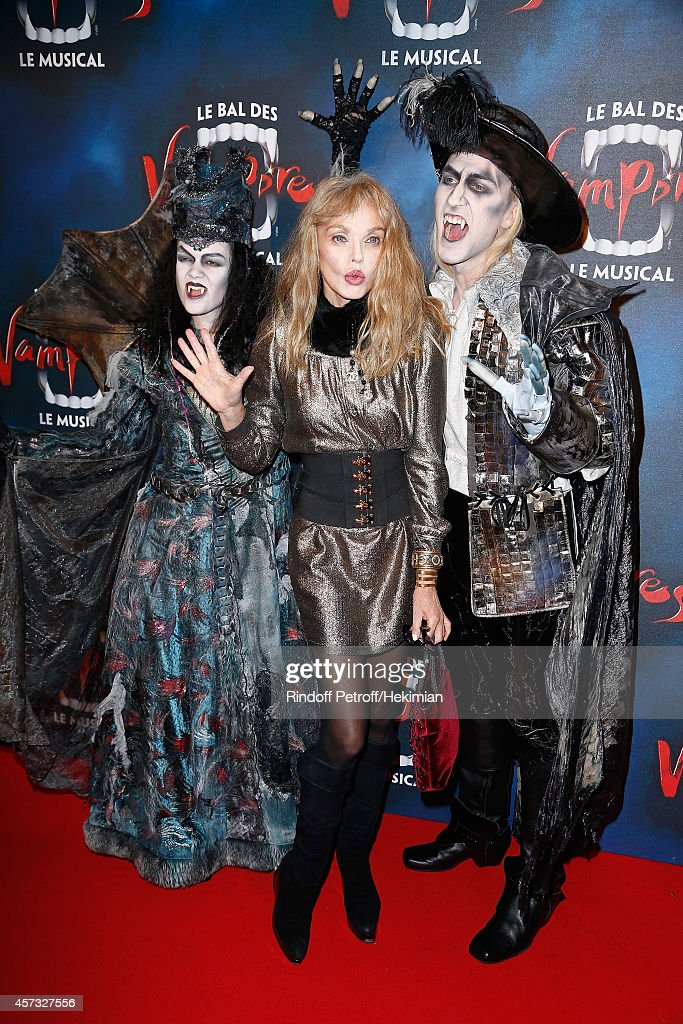 Arielle Dombasle attends 'Le Bal Des Vampires' Premiere at Theatre Mogador on October 16 2014 in Paris France