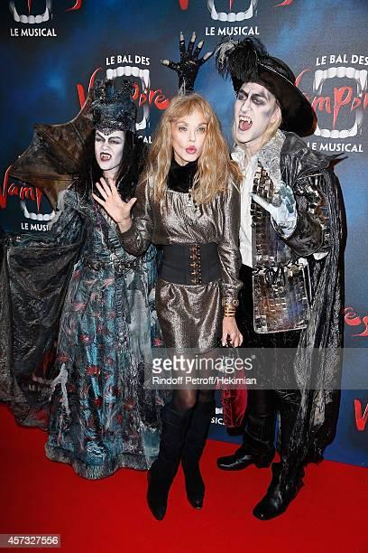 Arielle Dombasle attends 'Le Bal Des Vampires' Premiere at Theatre Mogador on October 16 2014 in Paris France