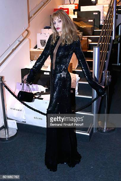 Arielle Dombasle attends the Annual Charity Dinner hosted by the AEM Association Children of the World for Rwanda Held at Espace Cardin on December...