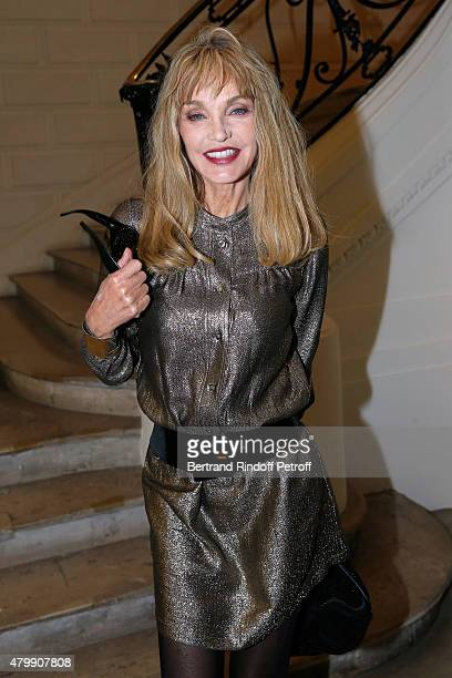 Arielle Dombasle attends the Jean Paul Gaultier show as part of Paris Fashion Week Haute Couture Fall/Winter 2015/2016 on July 8 2015 in Paris France