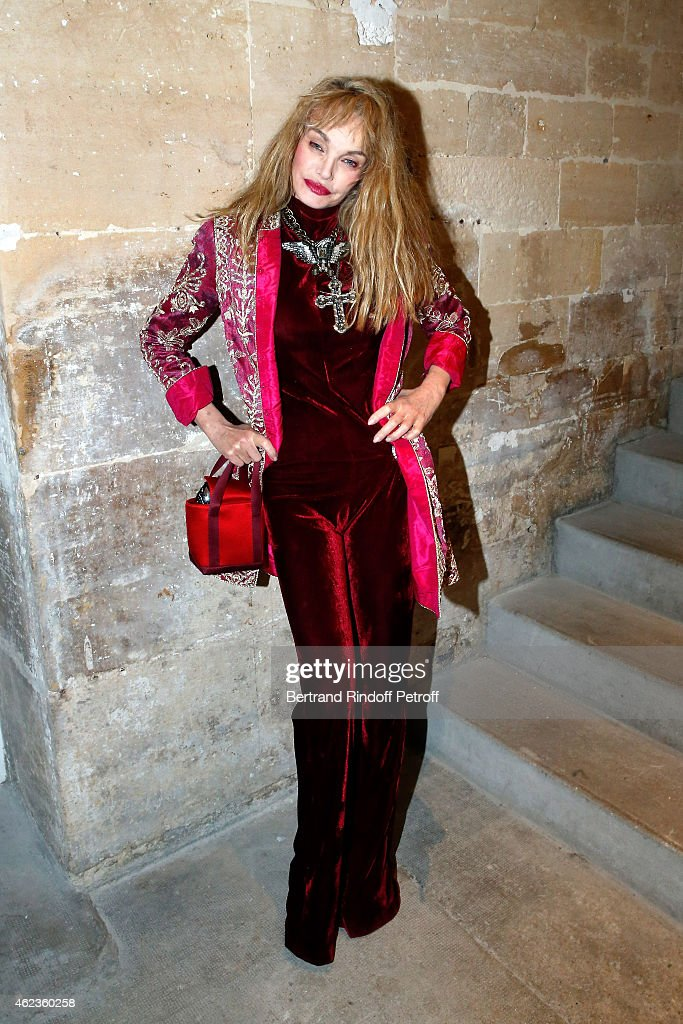 <a gi-track='captionPersonalityLinkClicked' href=/galleries/search?phrase=Arielle+Dombasle&family=editorial&specificpeople=616903 ng-click='$event.stopPropagation()'>Arielle Dombasle</a> attends the launch of Elie Top first 'Mechanique Celestre' collection at Gallerie Mitterrand on January 27, 2015 in Paris, France.