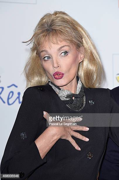 Arielle Dombasle attends 'WE Love Disney' Premiere To Benefit 'Reves Association' at Le Grand Rex on November 3 2014 in Paris France
