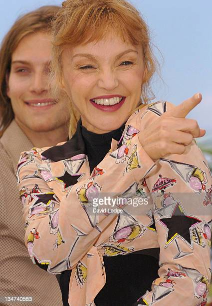 Arielle Dombasle during 2006 Cannes Film Festival 'Nouvelle Chance ' Photocall at Palais des Festival in Cannes France