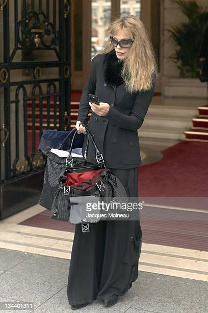 Arielle Dombasle during Arielle Dombasle Sighting in Paris January 16 2007 at Ritz Hotel in Paris France