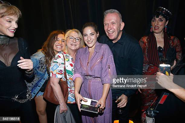 Arielle Dombasle Izia Higelin Josiane Balasko her daughter Marilou Berry stylist JeanPaul Gaultier and Rossy de Palma pose after the Jean Paul...