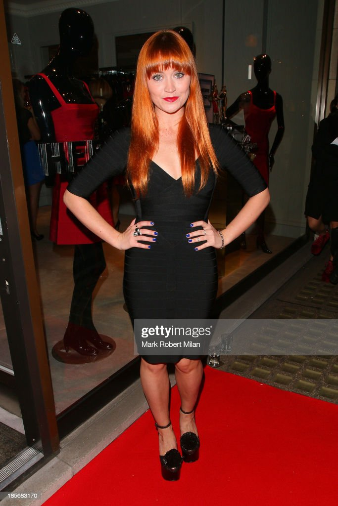 Arielle Free attending the Herve Leger by Max Azria Barbie doll launch on October 23, 2013 in London, England.
