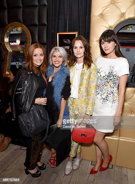 Arielle Free Pips Taylor Charlotte de Carle and Lilah Parsons attend the Launch of GHD SM Pop Up Studio for London Fashion Week on September 17 2015...