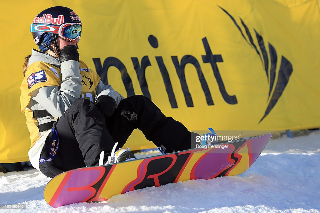 Arielle Gold prepares to take a practice run as she went on to finish second in the FIS Snowboard Halfpipe World Cup at the Sprint U.S. Grand Prix at Park City Mountain on February 1, 2013 in Park City, Utah.