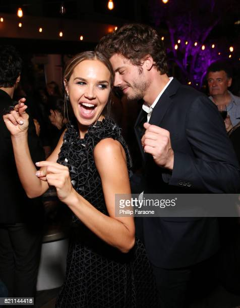 Arielle Kebbel and Francois Arnaud at Entertainment Weekly's annual ComicCon party in celebration of ComicCon 2017 at Float at Hard Rock Hotel San...