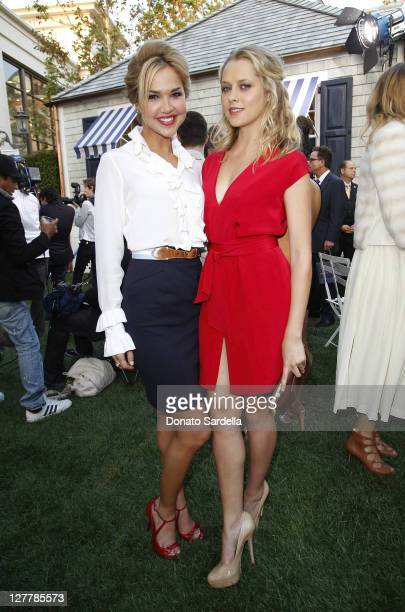 Arielle Kebbel and Teresa Palmer attend Tommy Hilfiger And Lisa Birnbach Celebrate Prep World In Los Angeleson June 9 2011 in Los Angeles California