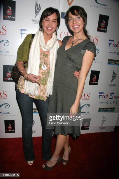 Arielle Kebbel and Whitney Cummings during Life at Its Best Celebrates Two Years of Success December 7 2006 at Fred Segal's Mauro Cafe in Los Angeles...