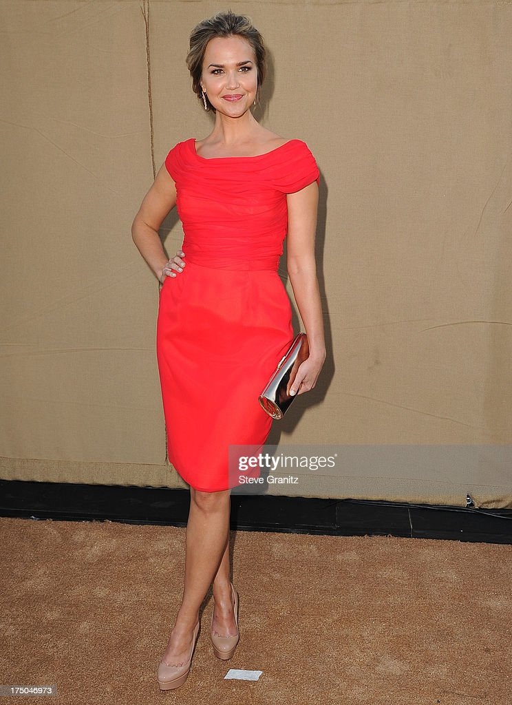 Arielle Kebbel arrives at the Television Critic Association's Summer Press Tour - CBS/CW/Showtime Party at 9900 Wilshire Blvd on July 29, 2013 in Beverly Hills, California.