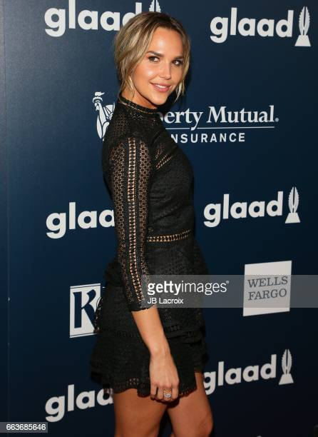 Arielle Kebbel attends the 28th Annual GLAAD Media Awards on April 01 2017 in Beverly Hills California