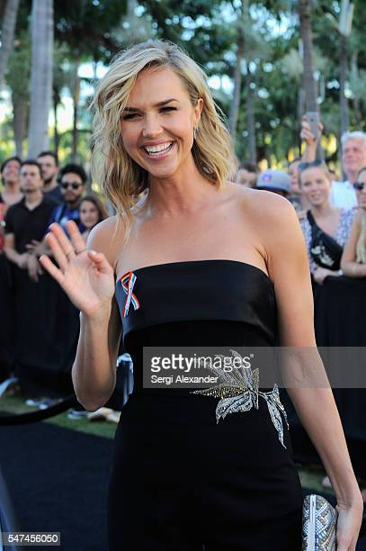 Arielle Kebbel attends the HBO Ballers Season 2 Red Carpet Premiere and Reception on July 14 2016 at New World Symphony in Miami Beach Florida