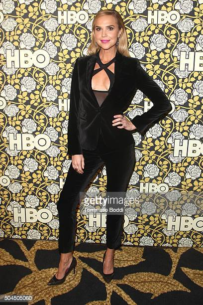 Arielle Kebbel attends the HBO's Post 2016 Golden Globe Awards Party held at Circa 55 Restaurant on January 10 2016 in Los Angeles California