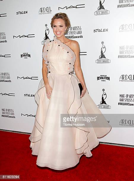 Arielle Kebbel attends the MakeUp Artists and Hair Stylists Guild Awards at Paramount Studios on February 20 2016 in Hollywood California