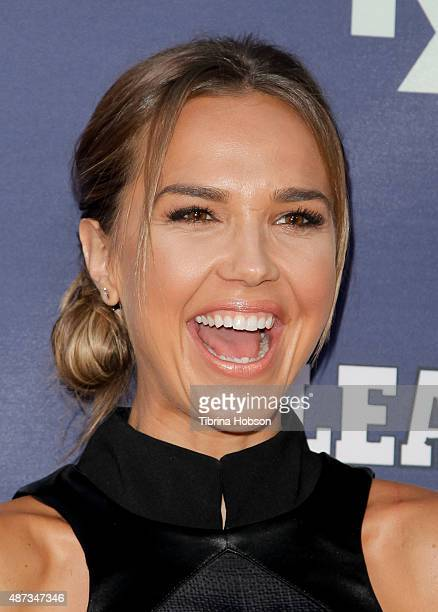 Arielle Kebbel attends the premiere of 'The League' and 'You're The Worst' at Regency Bruin Theater on September 8 2015 in Westwood California