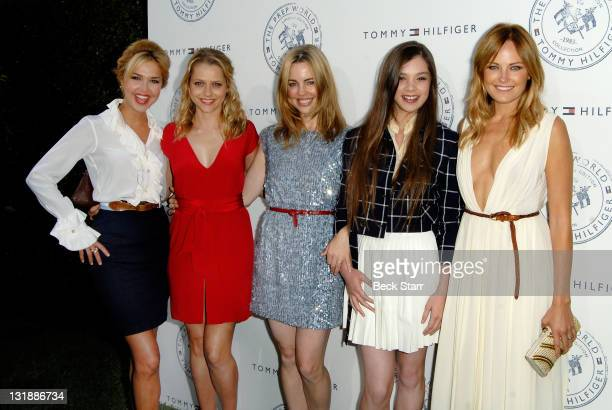 Arielle Kebbel Teresa Palmer Melissa George Hailee Steinfeld and Malin Akerman arrive at Tommy Hilfiger Prep World PopUp House Launch Party at The...