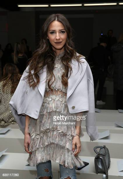 Arielle Noa Charnas attends Zimmermann during New York Fashion Week on February 13 2017 in New York City