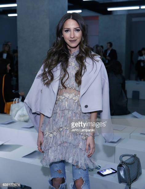 Arielle Noa Charnas attends Zimmermann fashion show on February 2017 New York Fashion Week on February 13 2017 in New York City
