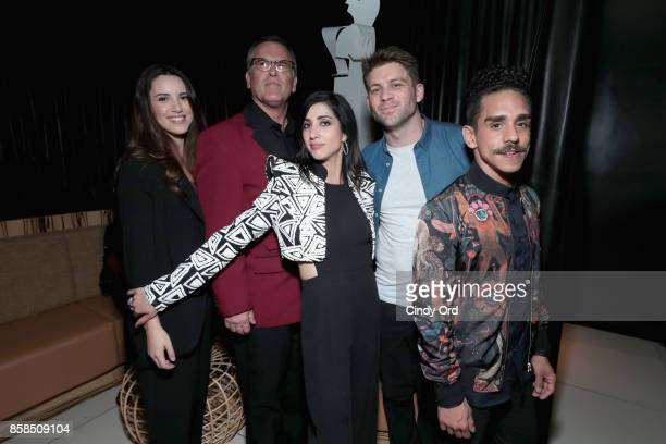 Arielle O'Neill Bruce Campbell Dana DeLorenzo Lindsay Farris and Ray Santiago attend Hulu's New York Comic Con After Party at The Lobster Club on...