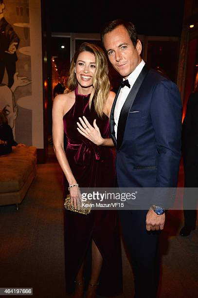 Arielle Vandenberg and Will Arnett attend the 2015 Vanity Fair Oscar Party hosted by Graydon Carter at the Wallis Annenberg Center for the Performing...