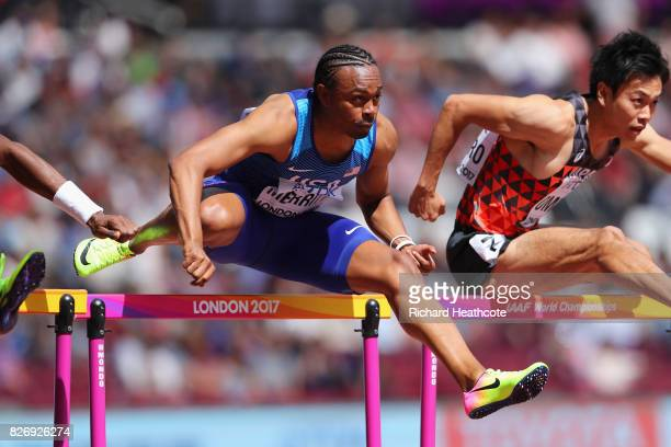 Aries Merritt of the United States competes in the Men's 110 metres hurdles during day three of the 16th IAAF World Athletics Championships London...