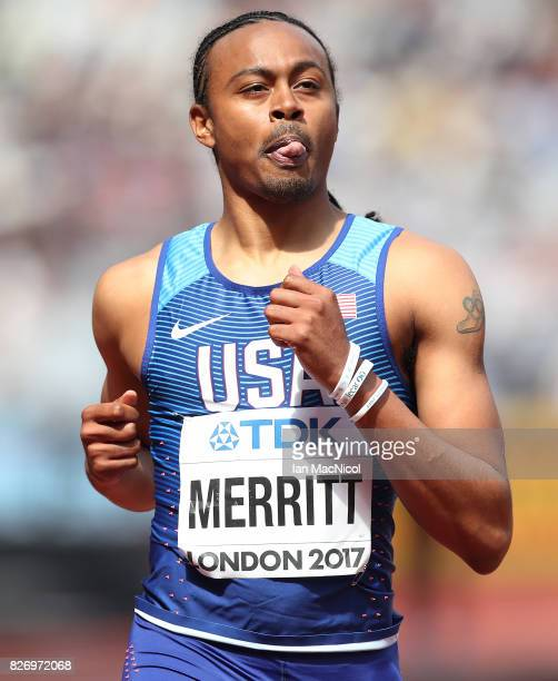 Aries Merritt of United States competes in the Men's 110 Hurdles heats during day three of the 16th IAAF World Athletics Championships London 2017 at...