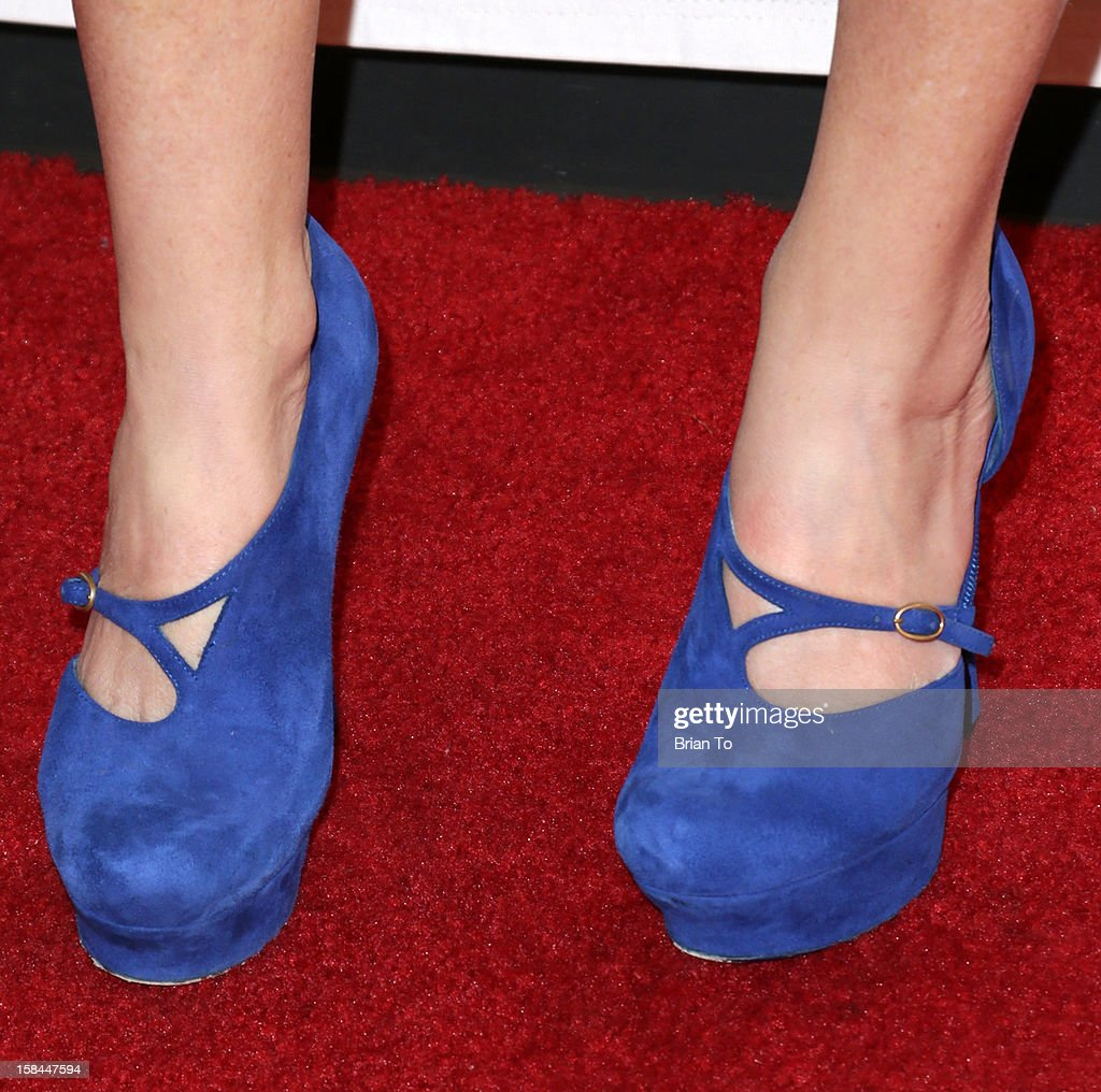 Aries Milan (shoe detail) attends The 14th a annual Women's Image Network (WIN) awards at Paramount Theater on the Paramount Studios lot on December 12, 2012 in Hollywood, California.