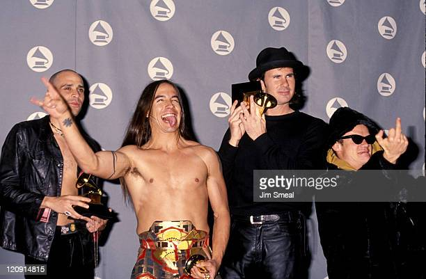 Arik Marshall Anthony Kiedis Chad Smith and Flea of Red Hot Chili Peppers