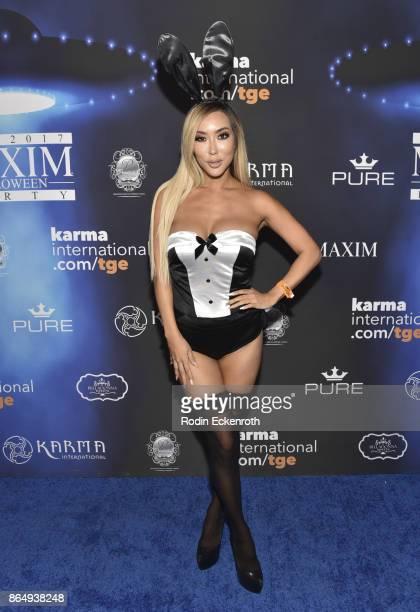 Arika Sato arrives at the 2017 MAXIM Halloween Party at LA Center Studios on October 21 2017 in Los Angeles California