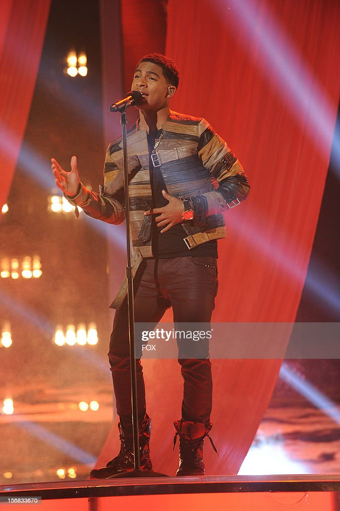 Arin Ray onstage at FOX's 'The X Factor' Season 2 Top 10 Live Performance Show on November 21, 2012 in Hollywood, California.