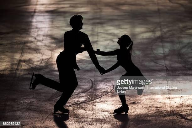 Arina Ushakova and Maxim Nekrasov of Russia compete in the Junior Ice Dance Short Dance during day one of the ISU Junior Grand Prix of Figure Skating...