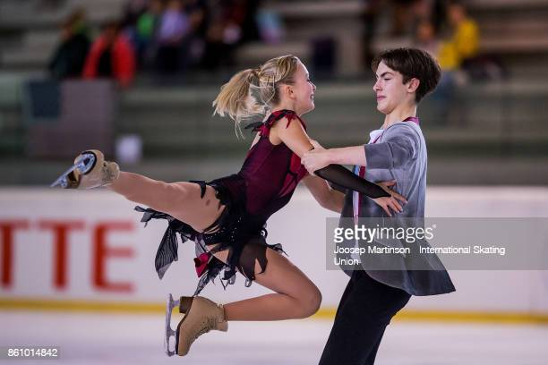 Arina Uushakova and Maxim Nekrasov of Russia compete in the Junior Ice Dance Free Dance during day two of the ISU Junior Grand Prix of Figure Skating...