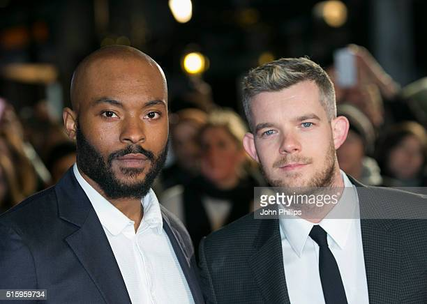 Arinze Kene and Russell Tovey attend the UK fim Premiere of 'The Pass' at Odeon Leicester Square on March 16 2016 in London England